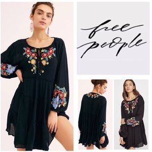 Free People- Spell On Your Embroidered Mini Dress